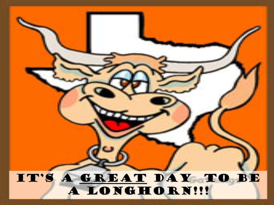 It's a GREAT Day To Be a Longhorn!!!