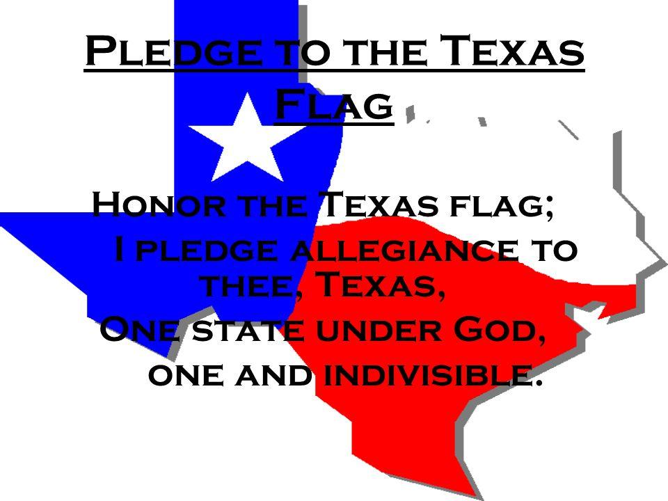 Pledge to the Texas Flag