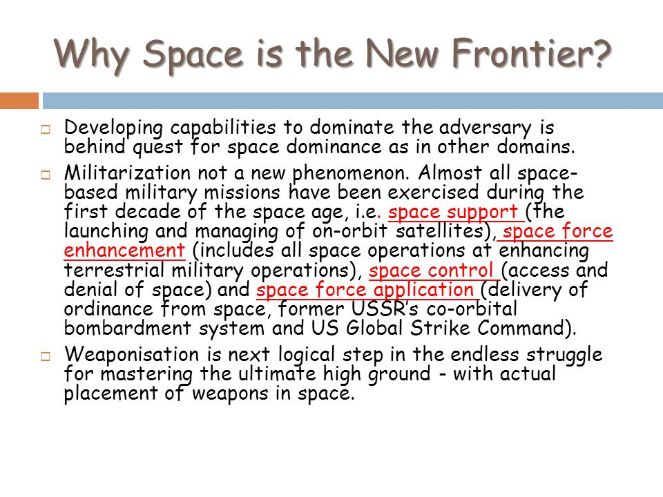 Why Space is the New Frontier