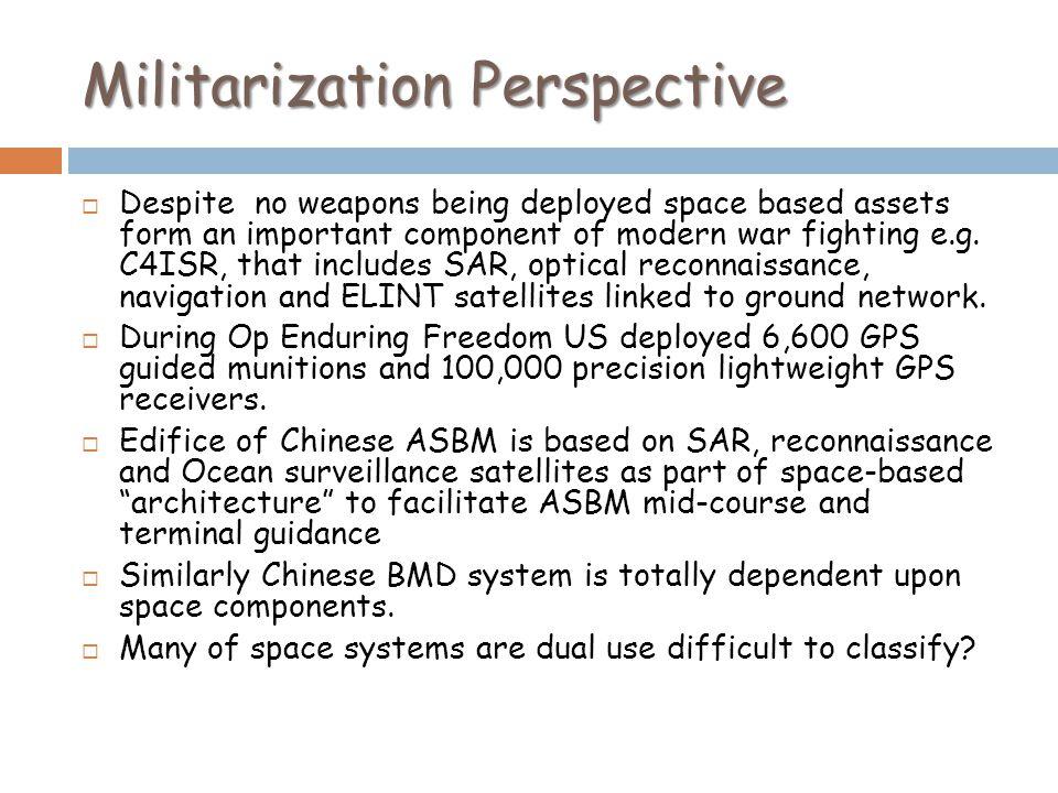 Militarization Perspective