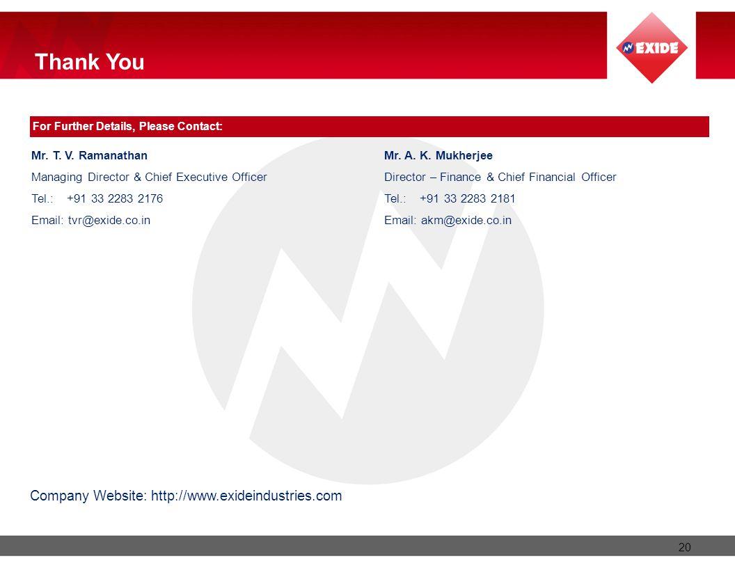 Company Website: http://www.exideindustries.com