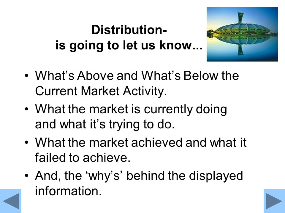 Distribution- is going to let us know...