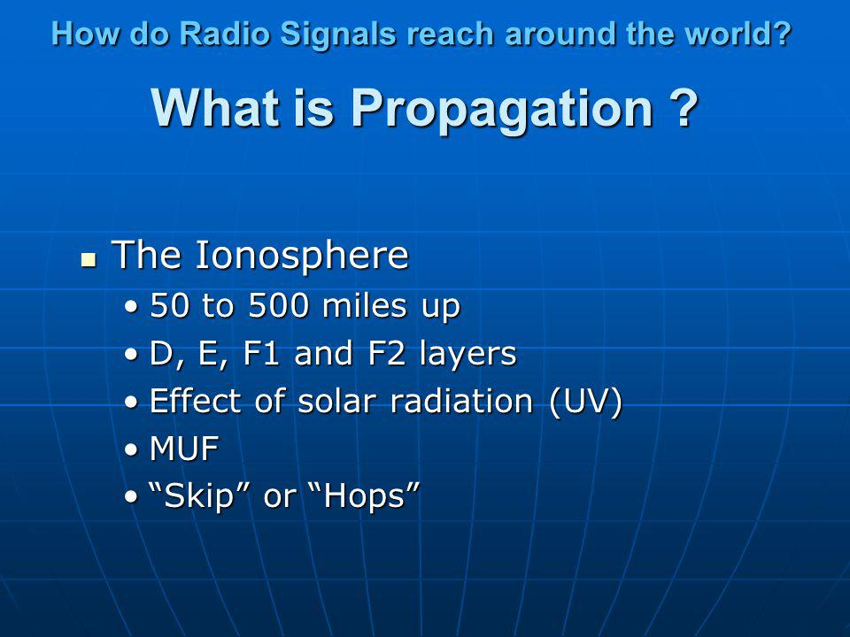 How do Radio Signals reach around the world