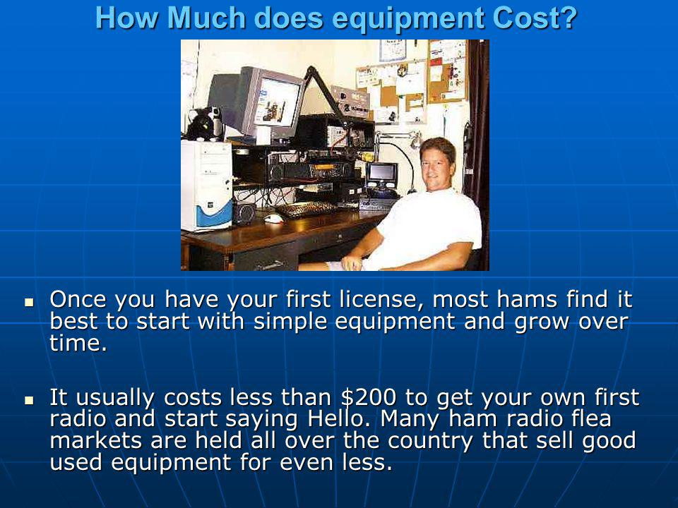 How Much does equipment Cost