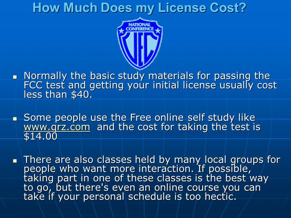 How Much Does my License Cost