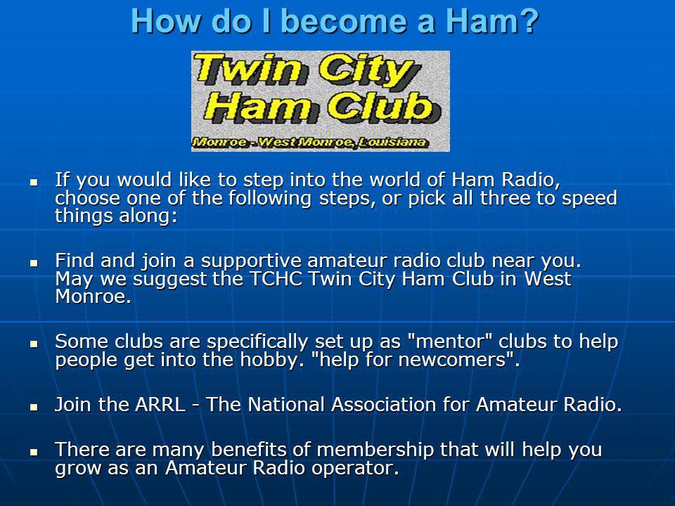 How do I become a Ham