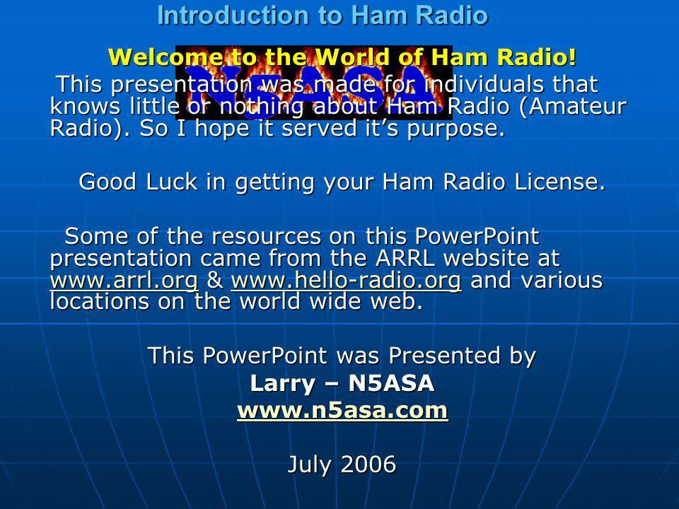 Introduction to Ham Radio