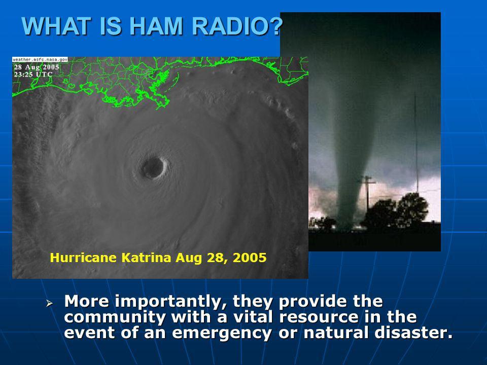 WHAT IS HAM RADIO Hurricane Katrina Aug 28, 2005.