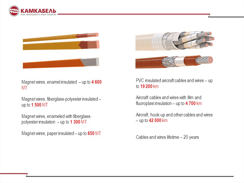Magnet wires, enamel insulated – up to 4 600 MT