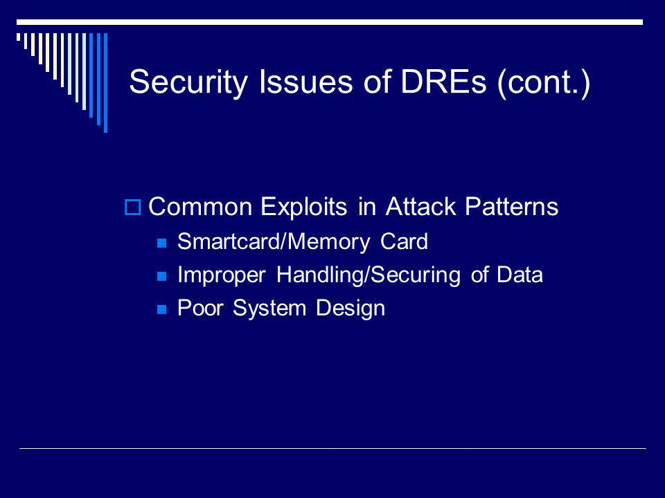 Security Issues of DREs (cont.)