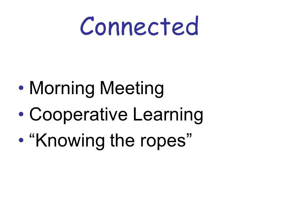 Connected Morning Meeting Cooperative Learning Knowing the ropes
