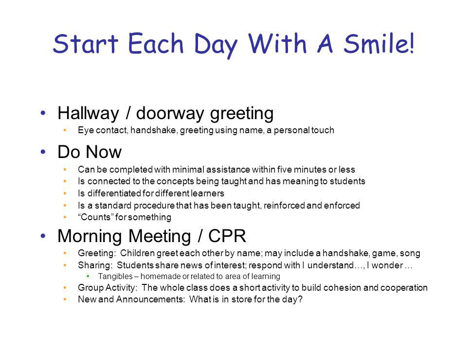 Start Each Day With A Smile!