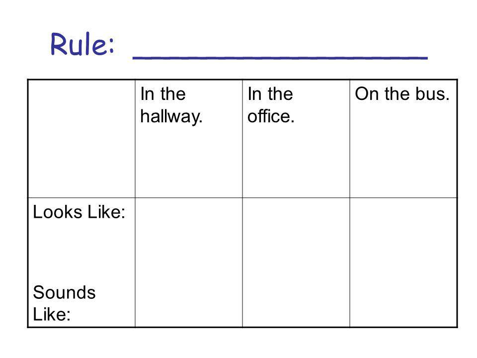 Rule: ________________