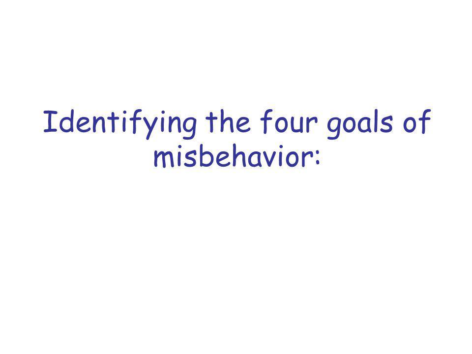 Identifying the four goals of misbehavior:
