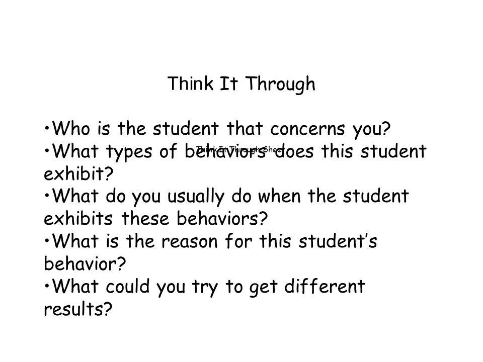 Who is the student that concerns you