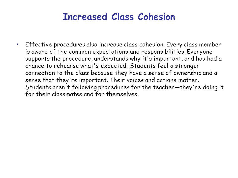 Increased Class Cohesion