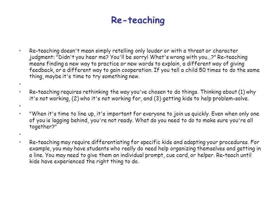 Re-teaching
