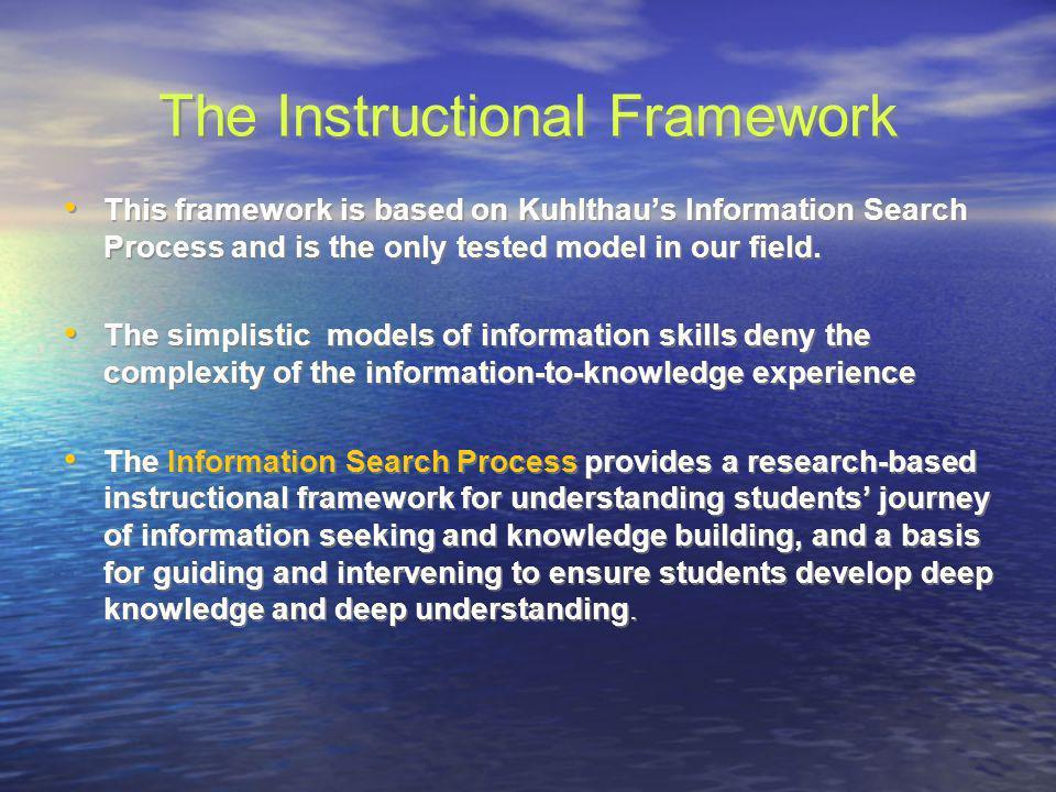 The Instructional Framework