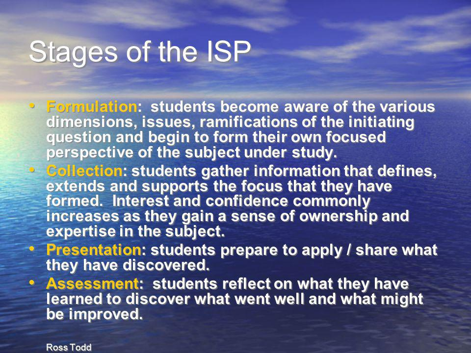 Stages of the ISP
