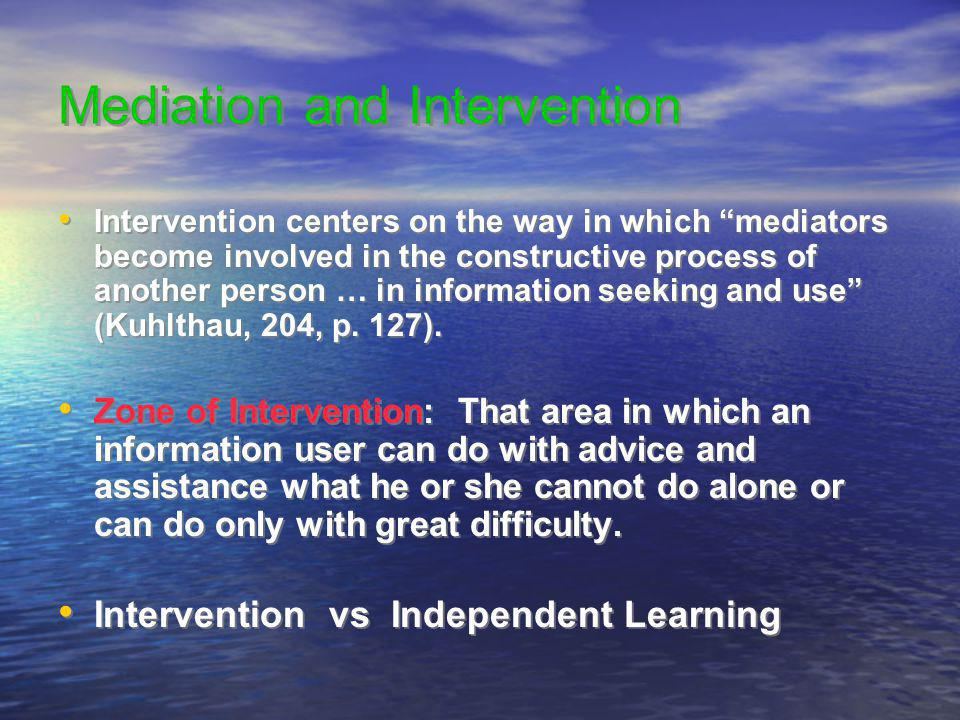 Mediation and Intervention