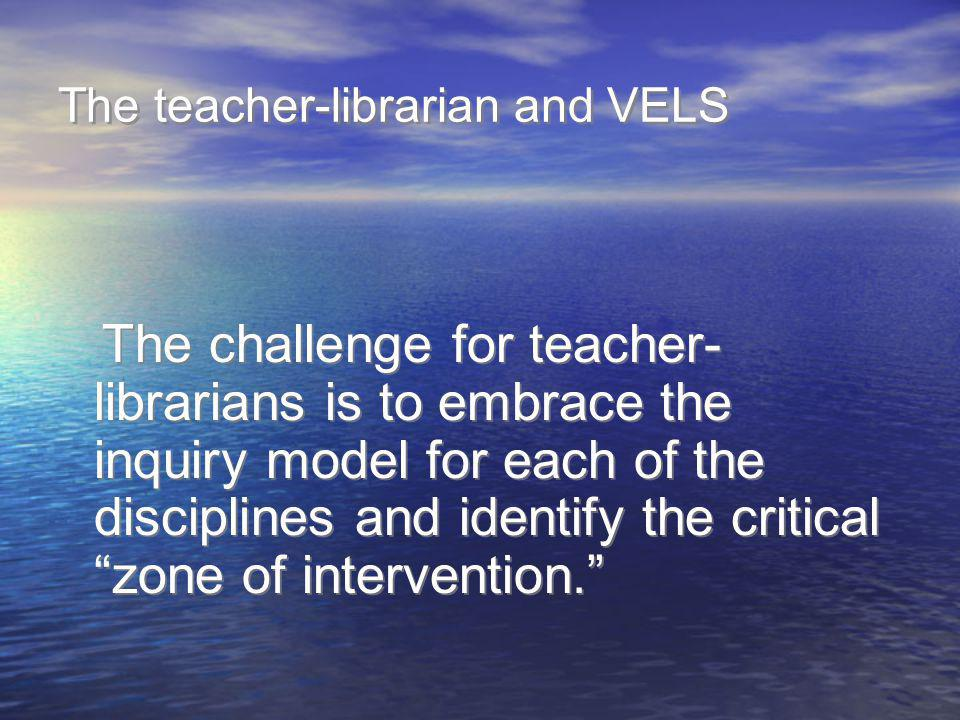 The teacher-librarian and VELS