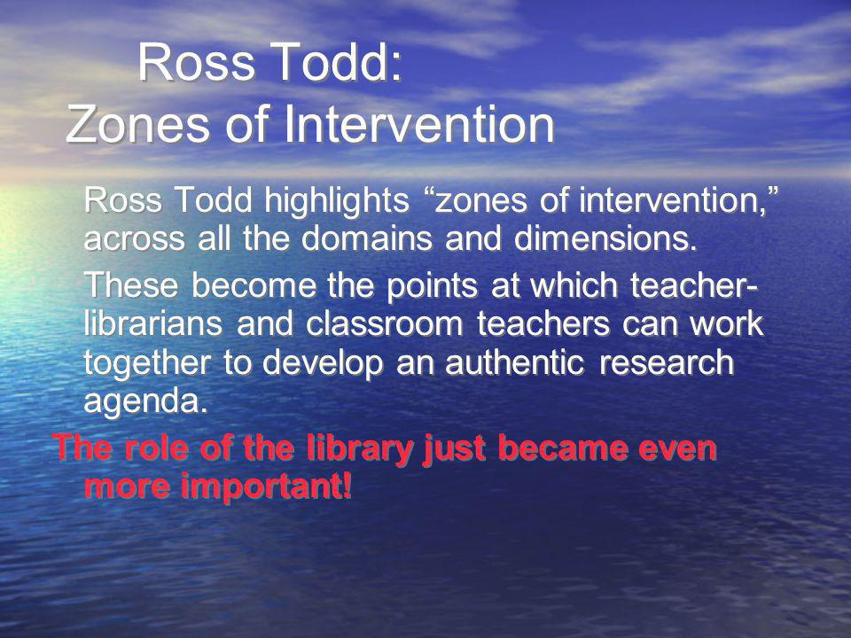 Ross Todd: Zones of Intervention