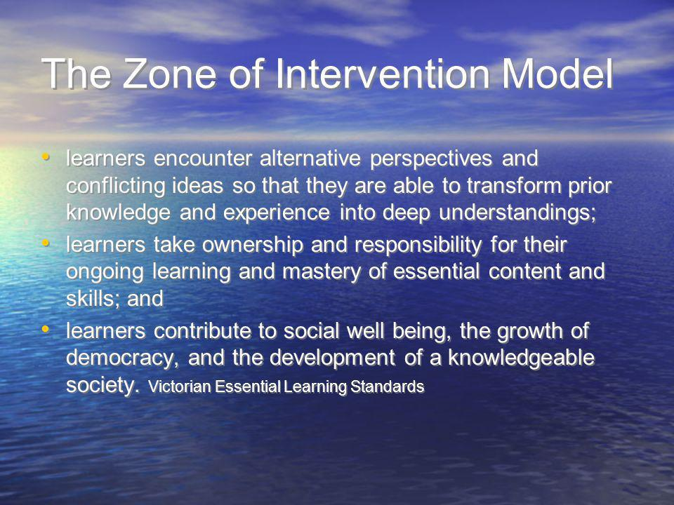 The Zone of Intervention Model