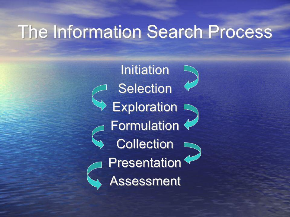 The Information Search Process