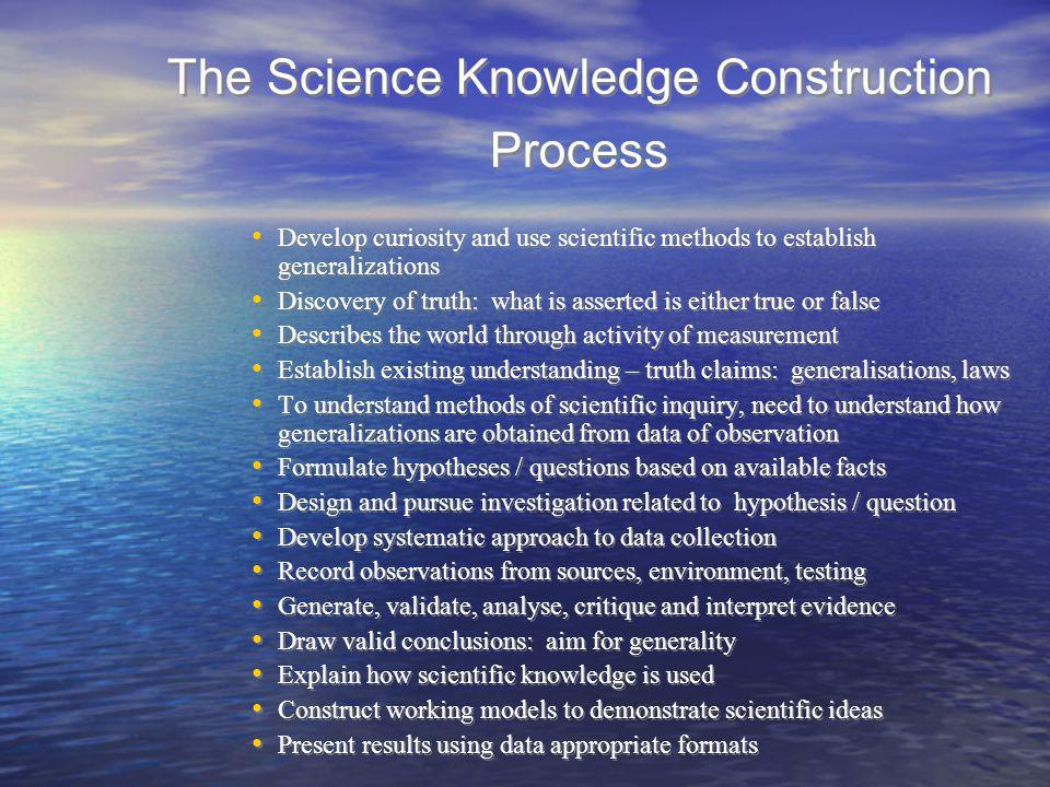 The Science Knowledge Construction Process