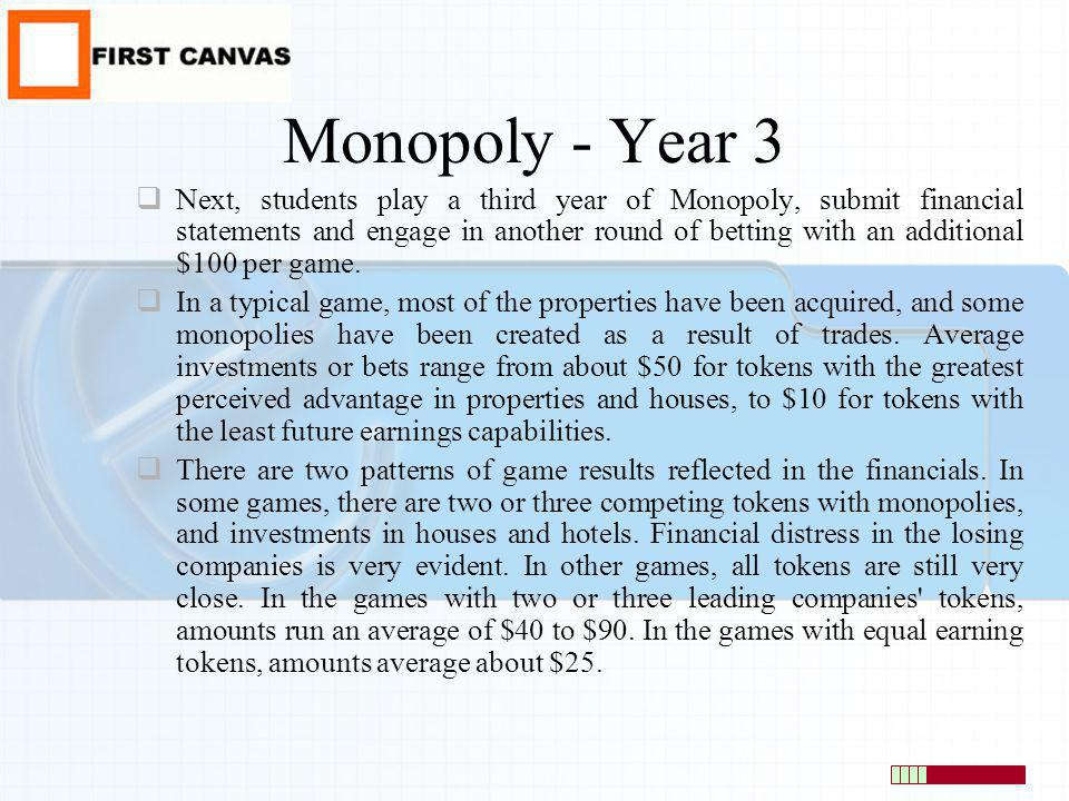 Monopoly - Year 3