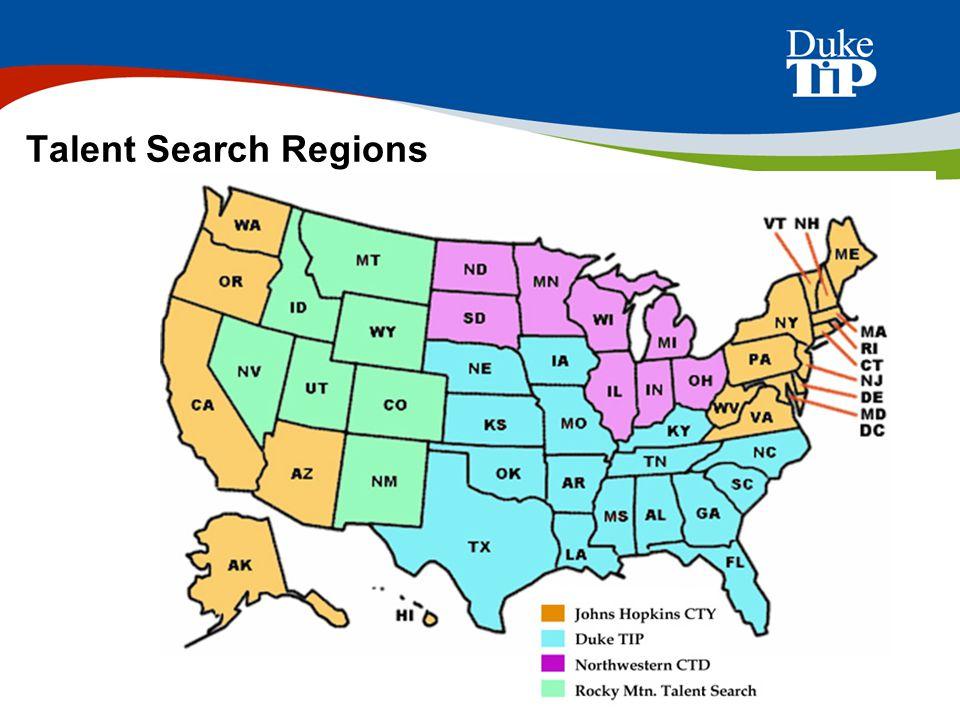 Talent Search Regions