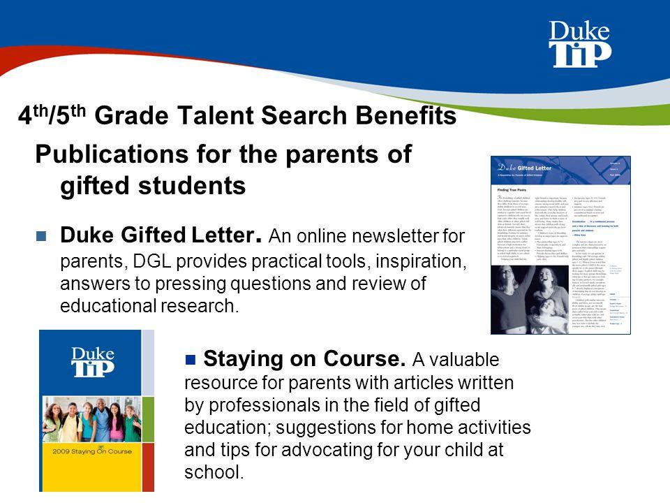 4th/5th Grade Talent Search Benefits