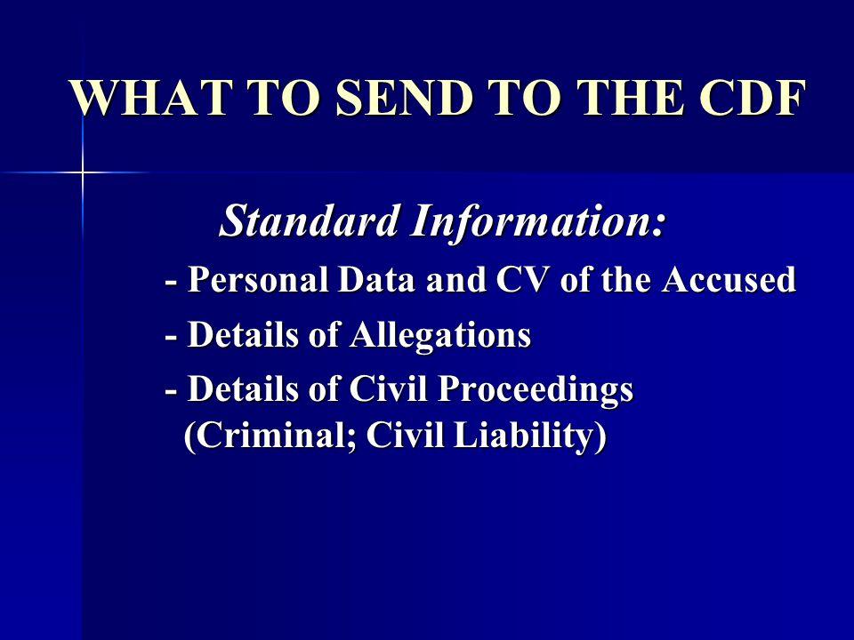 Standard Information: