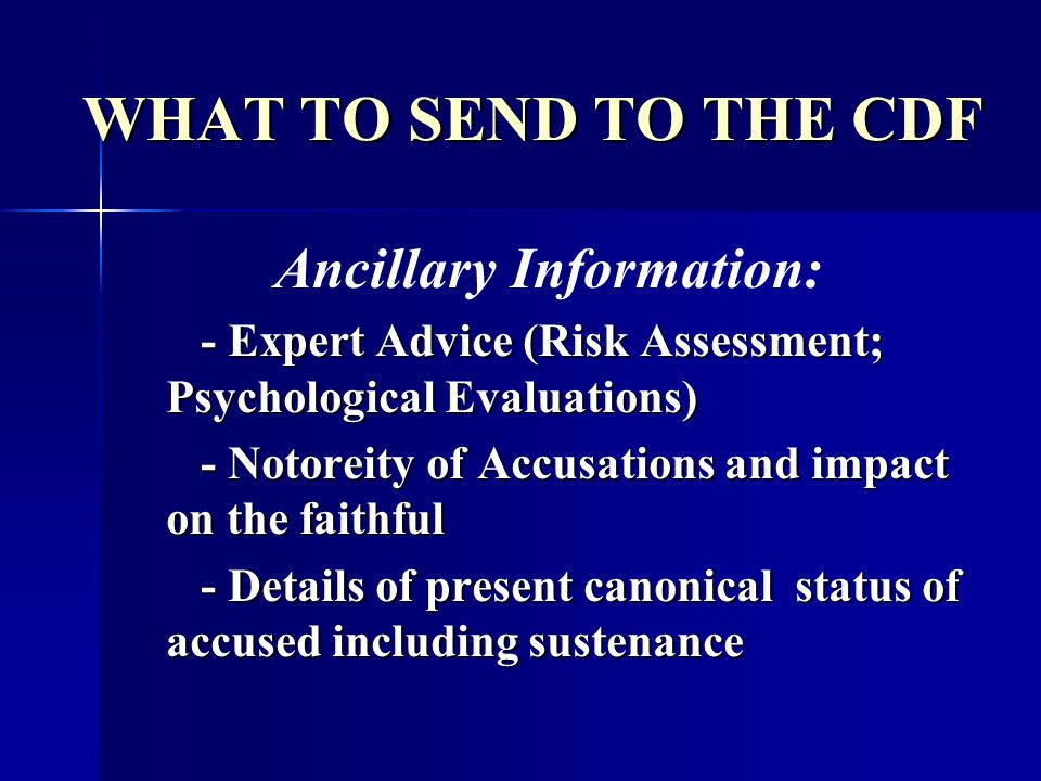 Ancillary Information: