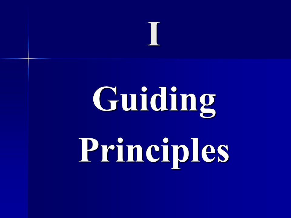I Guiding Principles