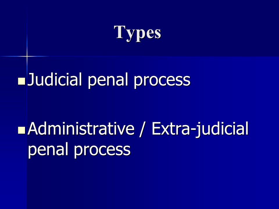 Types Judicial penal process