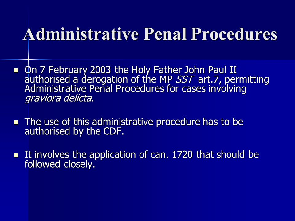 Administrative Penal Procedures