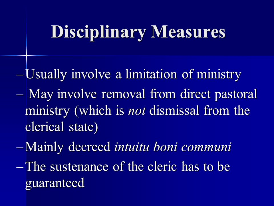 Disciplinary Measures