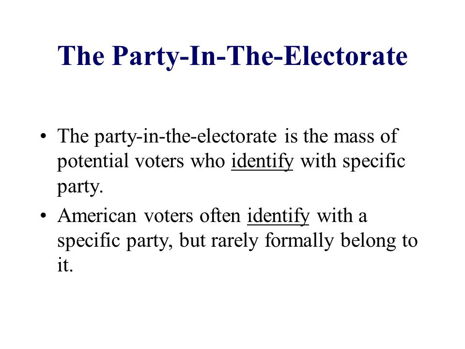 The Party-In-The-Electorate