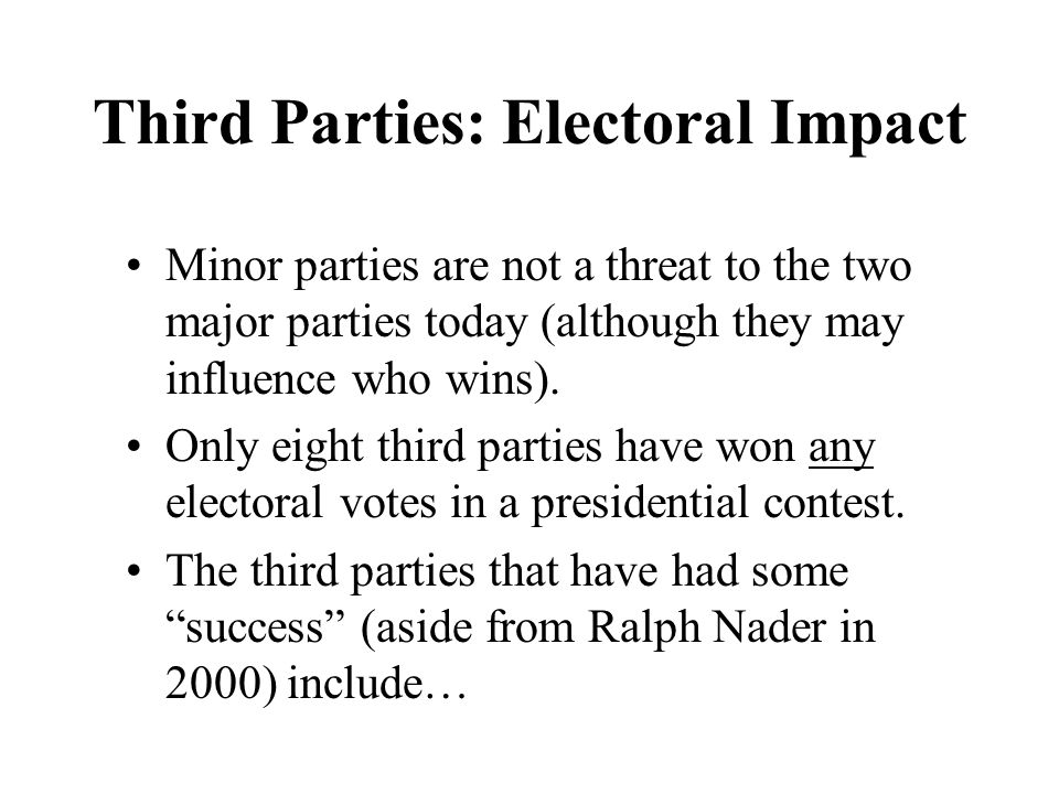 Third Parties: Electoral Impact