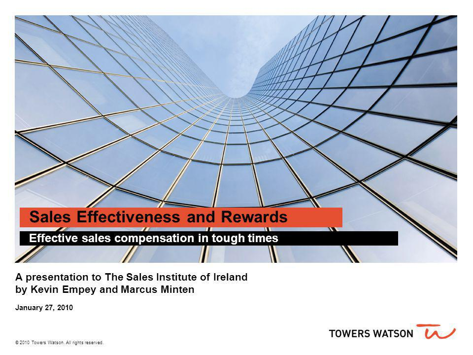 Sales Effectiveness and Rewards