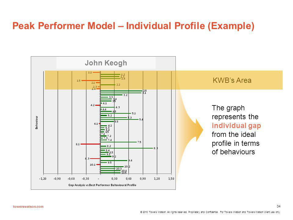 Peak Performer Model – Individual Profile (Example)