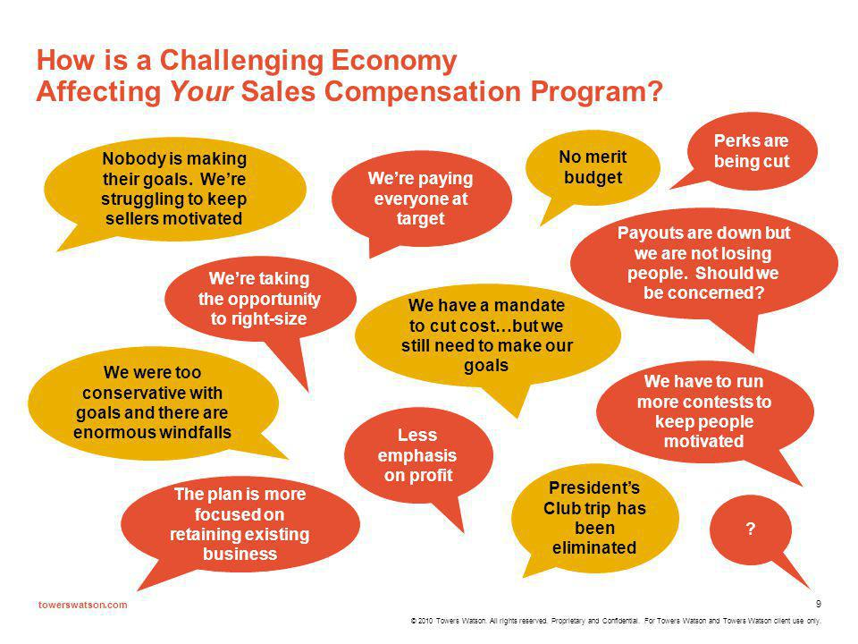 How is a Challenging Economy Affecting Your Sales Compensation Program