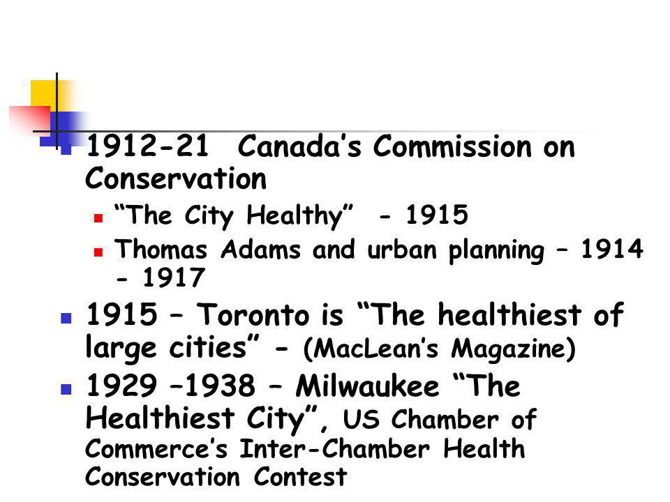 1912-21 Canada's Commission on Conservation