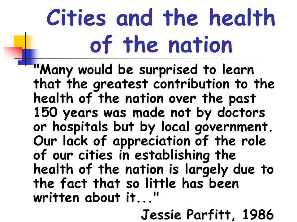 Cities and the health of the nation