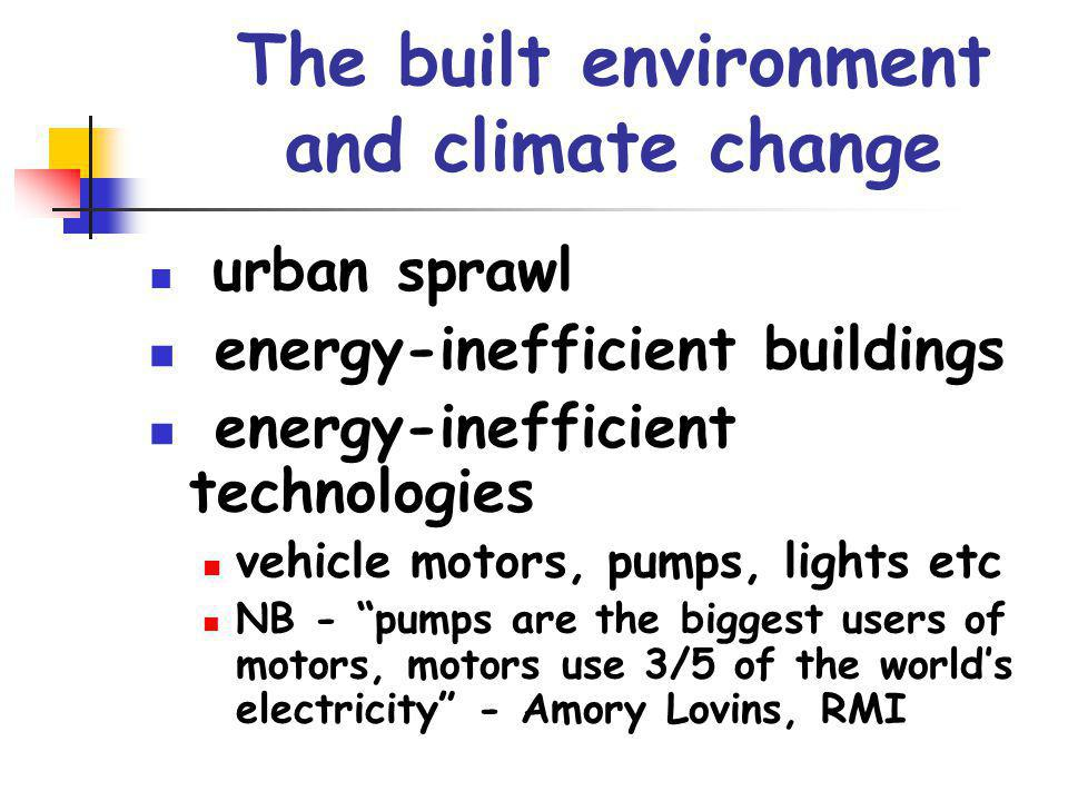 The built environment and climate change