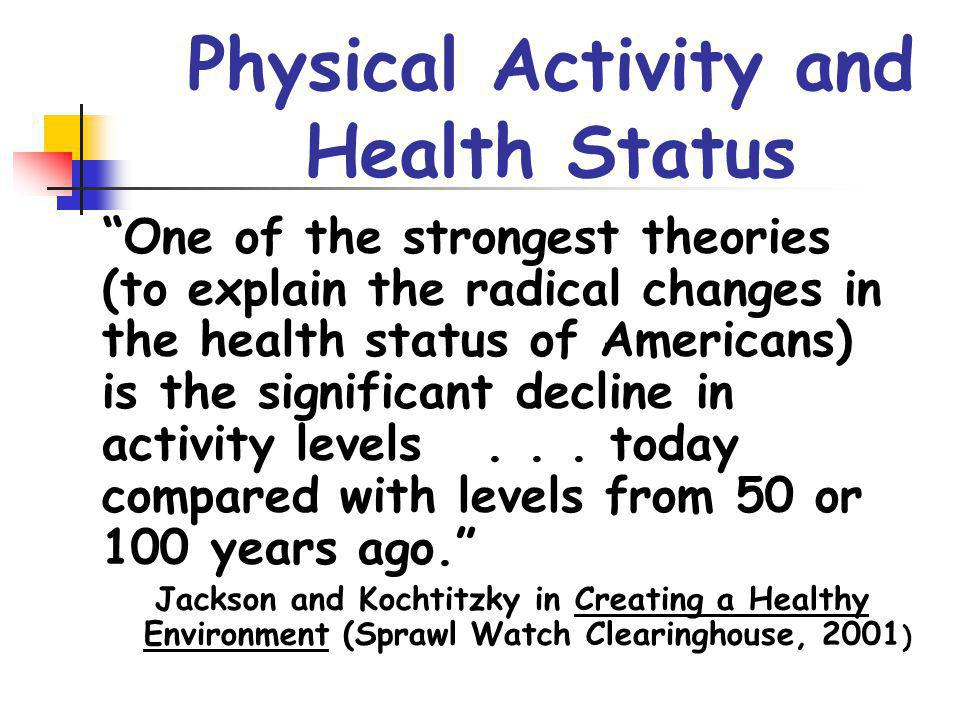 Physical Activity and Health Status