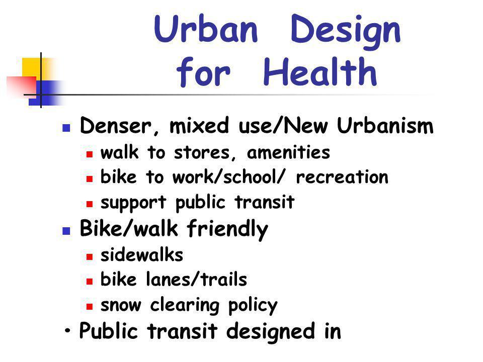 Urban Design for Health