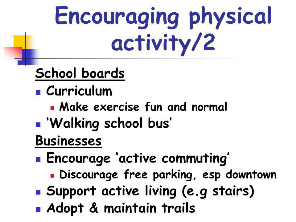 Encouraging physical activity/2
