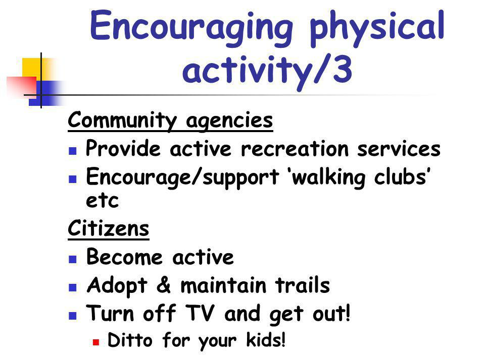Encouraging physical activity/3
